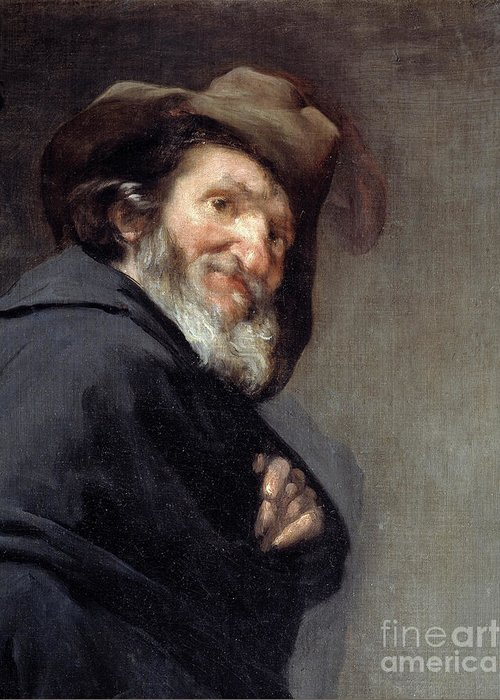 Menippus Greeting Card featuring the painting Menippus, Greek Poet And Philosopher Of The Cynical School by Diego Rodriguez De Silva Y Velazquez