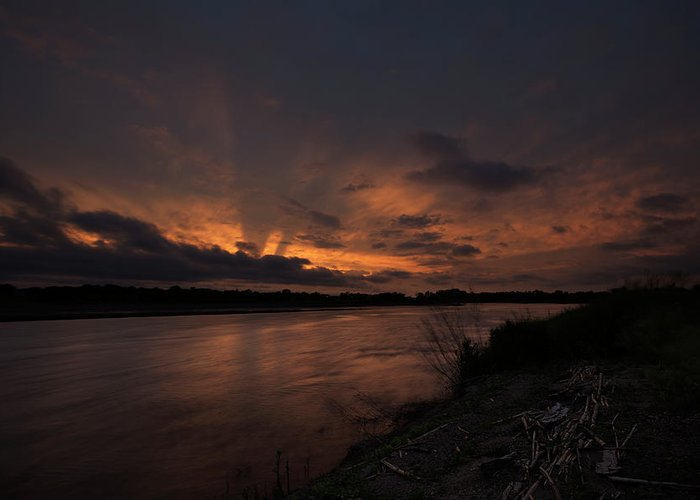 James River Greeting Card featuring the photograph Mighty James by Aaron J Groen