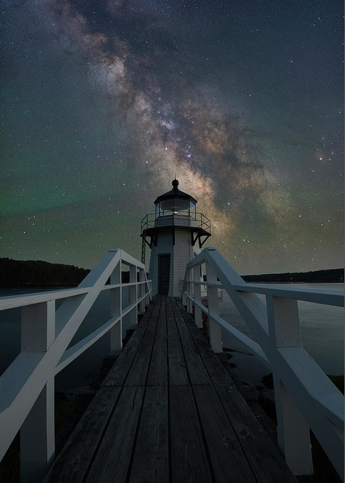 Doubling Point Light Greeting Card featuring the photograph Milky Way Over Doubling Point by Jesse MacDonald