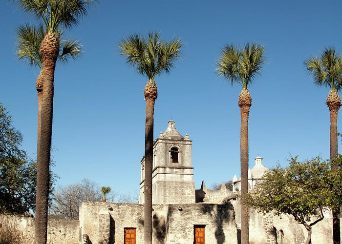 Built Structure Greeting Card featuring the photograph Mission Concepcion Detail, San Antonio by Ivanastar