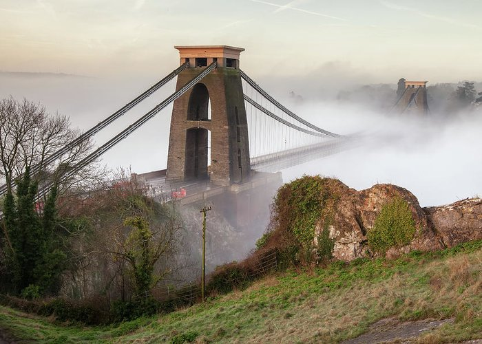 Tranquility Greeting Card featuring the photograph Misty Morning At Clifton by Paul C Stokes