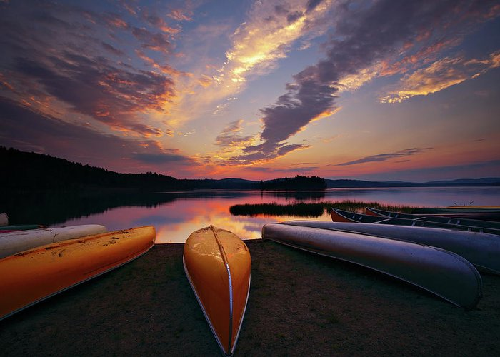 Tranquility Greeting Card featuring the photograph Morning At Lake Of The Two Rivers by Henry@scenicfoto.com