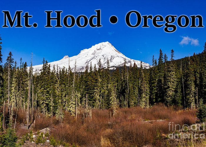Mount Hood Greeting Card featuring the photograph Mount Hood Oregon In Winter 01 by G Matthew Laughton