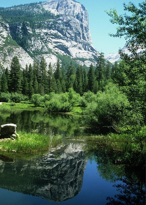 Scenics Greeting Card featuring the photograph Mount Watkins And Mirror Lake by Moodboard
