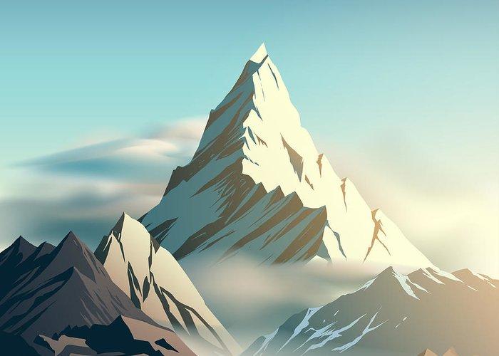 Blue Ridge Mountains Digital Art Greeting Cards