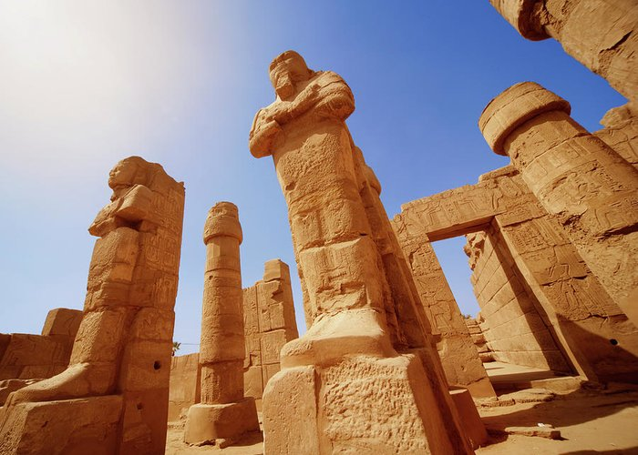 Art Greeting Card featuring the photograph Mysterious Ancient Temple Ruins In Egypt by Fds111