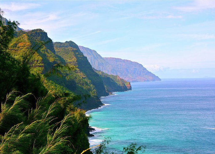 Nā Pali Coast State Park Greeting Card featuring the photograph Napali by Sean M. Murphy Photography