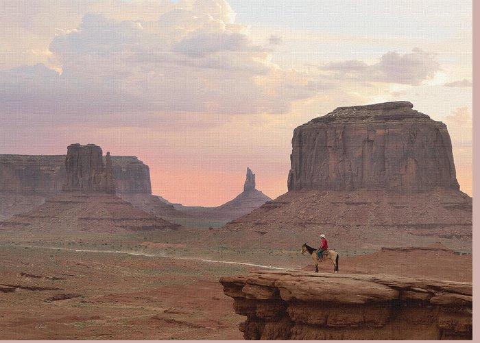 Navajo Greeting Card featuring the photograph Navajo Rider by Gordon Beck