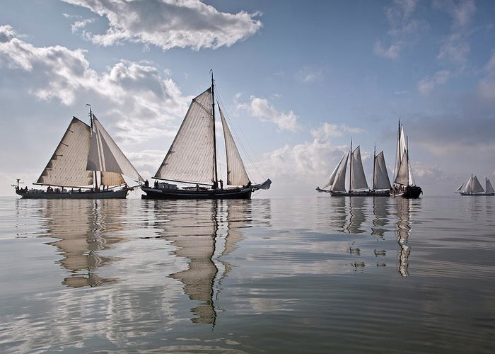 North Holland Greeting Card featuring the photograph Netherlands, Race Of Traditional by Frans Lemmens
