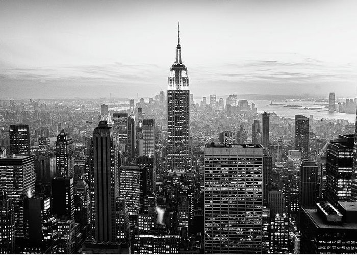 Outdoors Greeting Card featuring the photograph New York City by Randy Le'moine