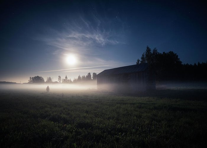 Finland Greeting Card featuring the photograph Night (moon) Will Forgive Us. by Mika Suutari