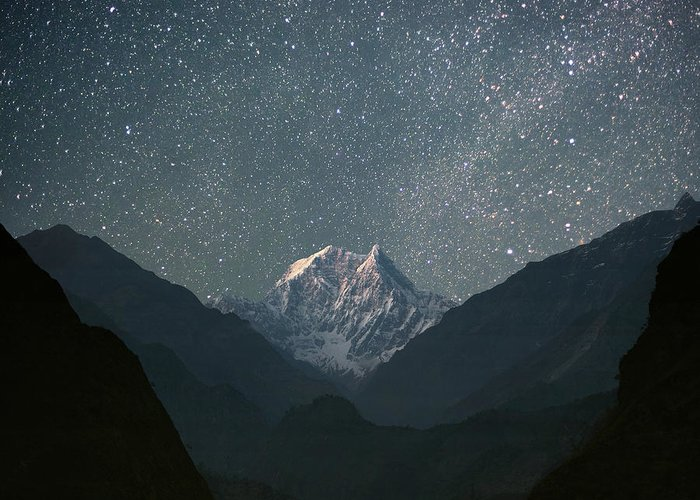 Himalayas Greeting Card featuring the photograph Nilgiri South 6839 M by Anton Jankovoy