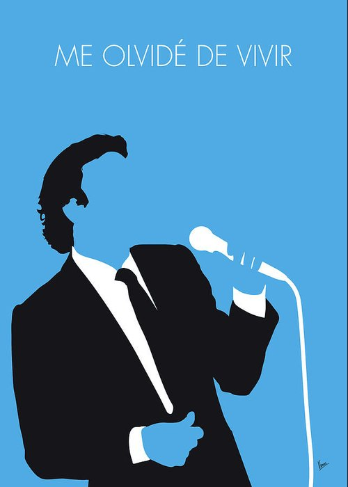 Julio Greeting Card featuring the digital art No279 My Julio Iglesias Minimal Music Poster by Chungkong Art