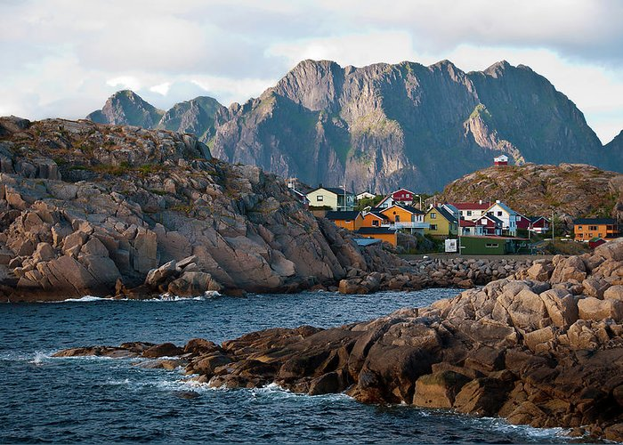 Tranquility Greeting Card featuring the photograph Norway by Brigitte Hermans