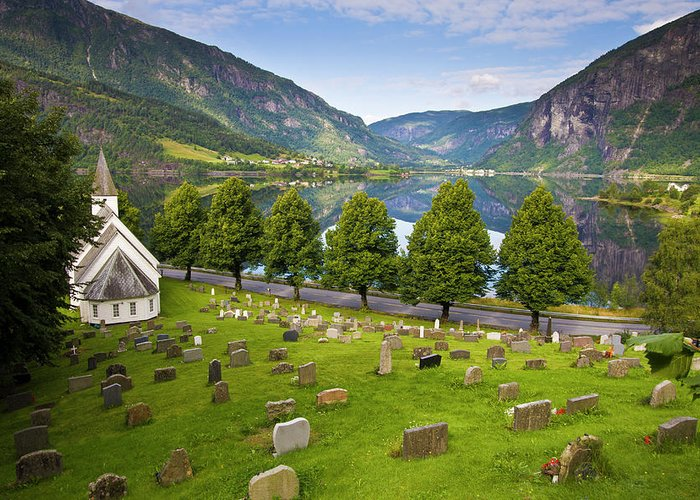 Tranquility Greeting Card featuring the photograph Norway by Manuel Romaris