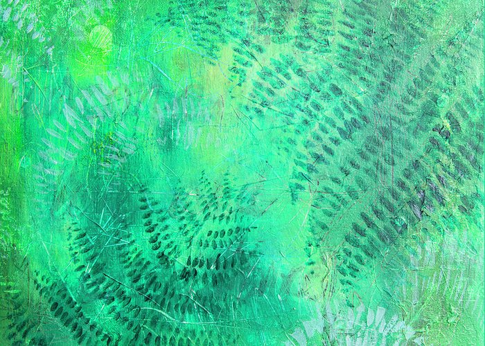 Fern Greeting Card featuring the painting Nz Ferns by Jocelyn Friis