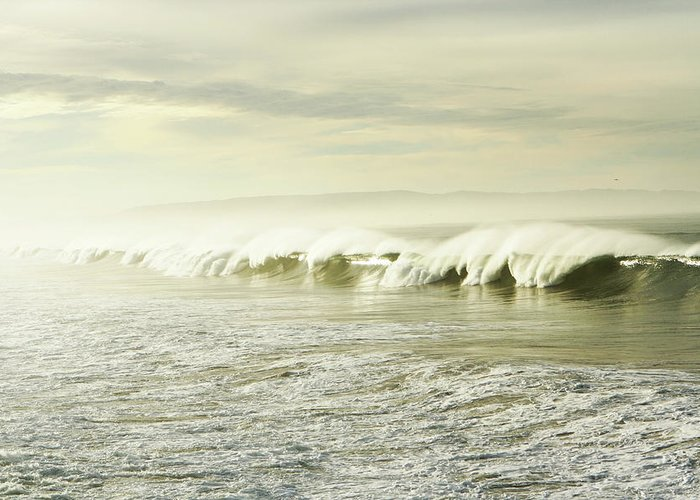Pismo Beach Greeting Card featuring the photograph Ocean At Sunrise by Kevinruss