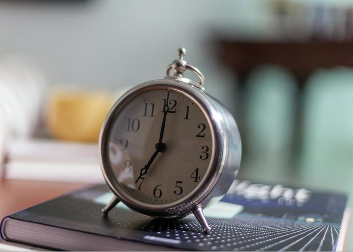 Madrid Greeting Card featuring the photograph Old Alarm Clock by Julio Lopez Saguar