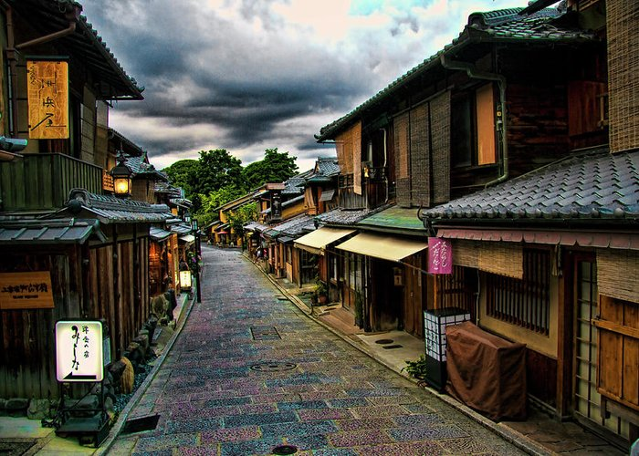 Tranquility Greeting Card featuring the photograph Old Kyoto by Copyright Artem Vorobiev