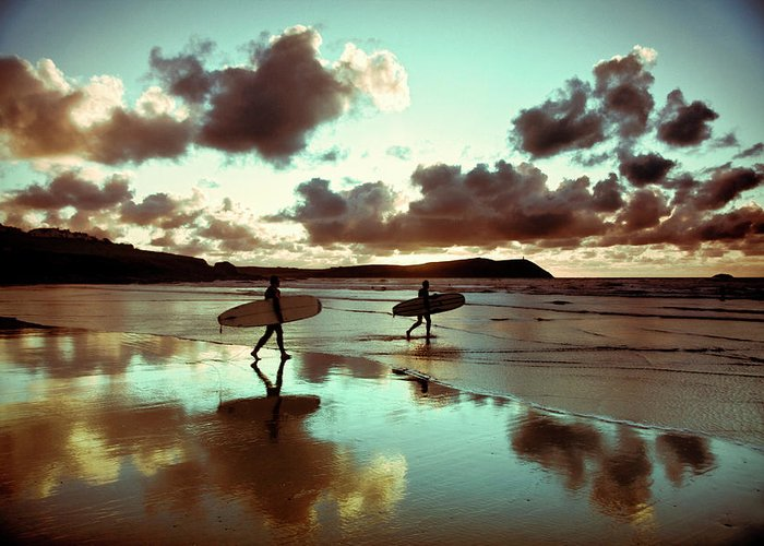 Water's Edge Greeting Card featuring the photograph Old Skool Surf by Landscapes, Seascapes, Jewellery & Action Photographer