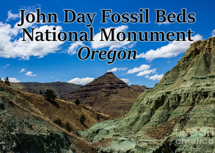 Oregon Greeting Card featuring the photograph Oregon - John Day Fossil Beds National Monument Blue Basin by G Matthew Laughton