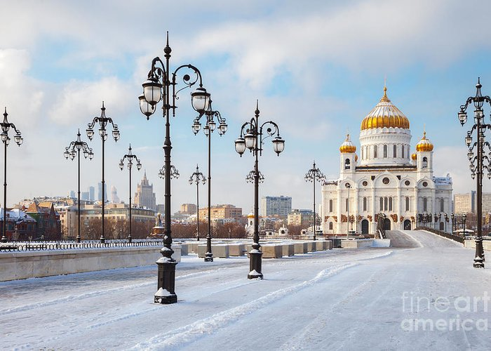 Trust Greeting Card featuring the photograph Orthodox Church Of Christ The Savior In by Chamille White