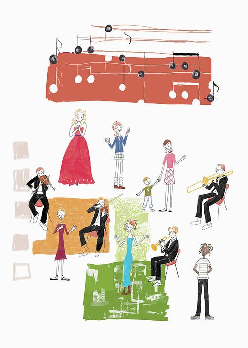 People Greeting Card featuring the digital art Party Image by Daj