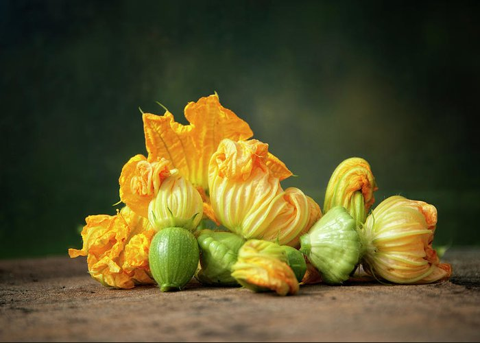 Healthy Eating Greeting Card featuring the photograph Patty Pans by Jojo1 Photography