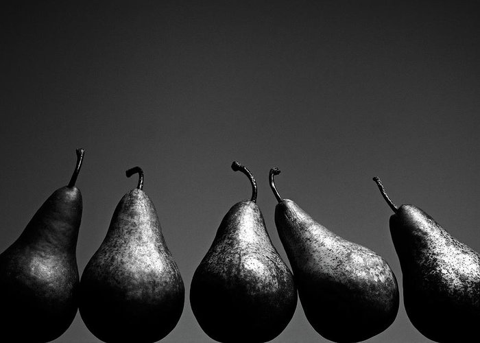 Five Objects Greeting Card featuring the photograph Pears by Eddie O'bryan