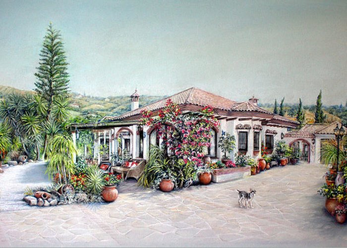 Art Greeting Card featuring the painting Pintura De La Casa by Rosemary Colyer
