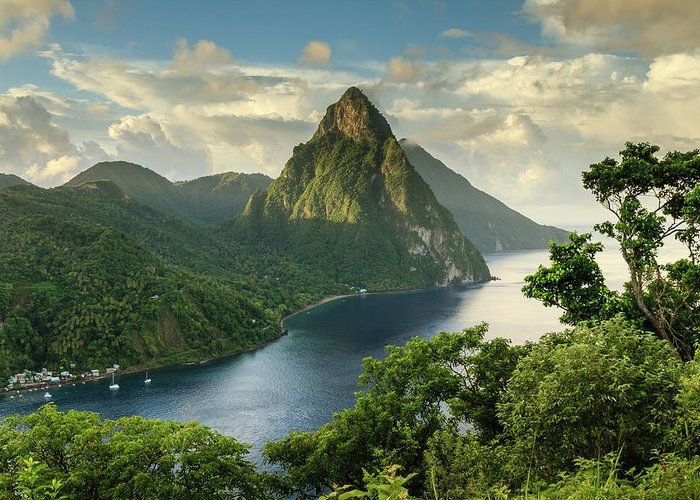 Nature Greeting Card featuring the photograph Piton View - Saint Lucia by Paul Baggaley