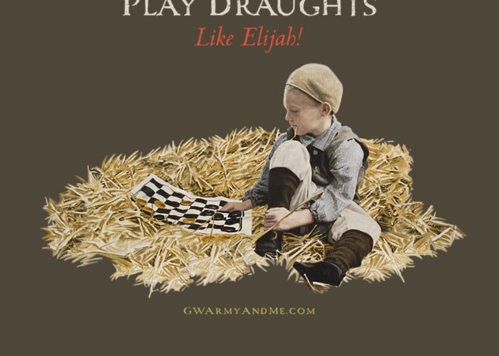 Draughts Greeting Card featuring the painting Play Draughts Like Elijah by 18th Century Slang