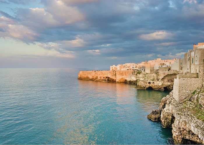 Adriatic Sea Greeting Card featuring the photograph Polignano A Mare On The Adriatic Sea by David Madison