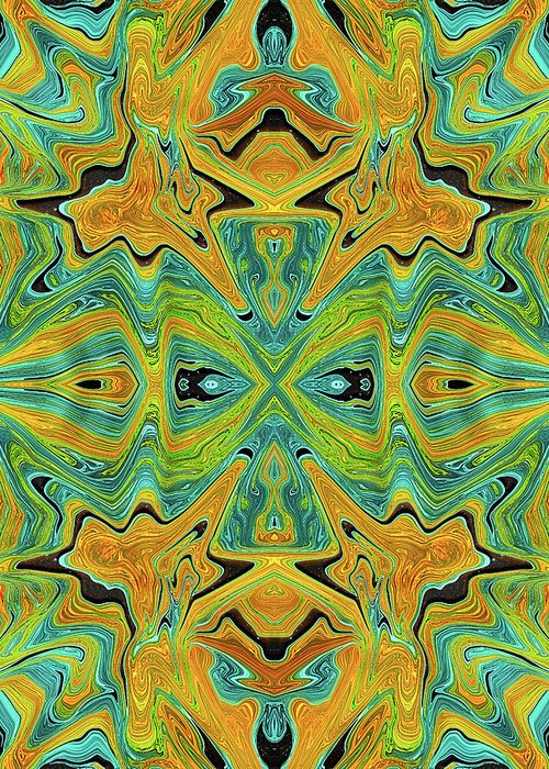 Abstract Greeting Card featuring the digital art Popped Oranges and Limes by Jack Entropy