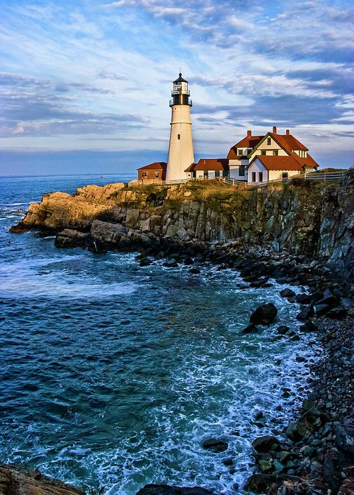 Built Structure Greeting Card featuring the photograph Portland Head Light by C. Fredrickson Photography