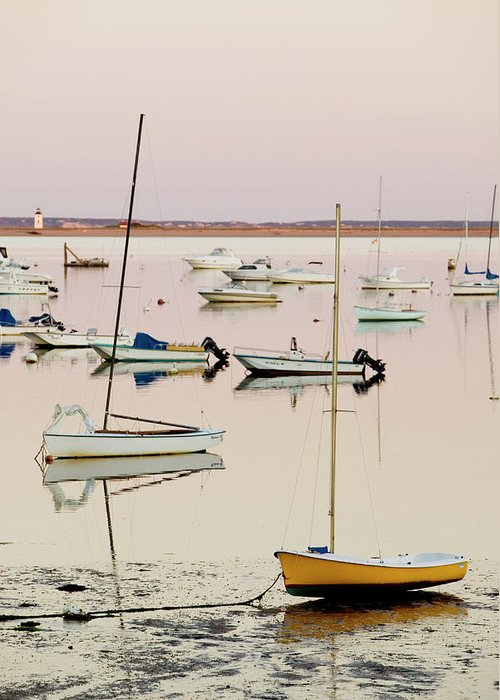 Sailboat Greeting Card featuring the photograph Provincetown Harbor by Walter Bibikow