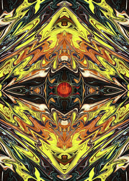 Abstract Greeting Card featuring the digital art Psych Rock by Jack Entropy