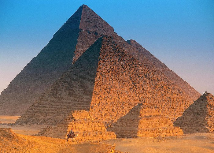 Majestic Greeting Card featuring the photograph Pyramids, Cairo, Egypt by Peter Adams