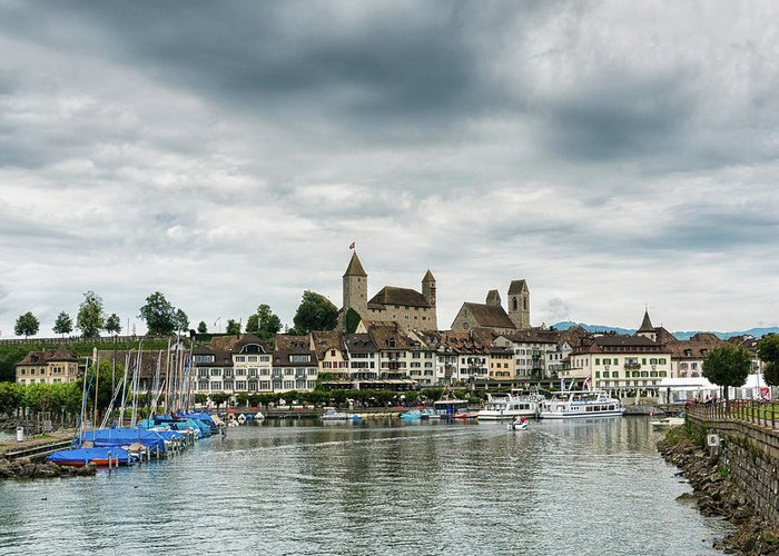 Rapperswil Greeting Card featuring the photograph Rapperswil Castle by DiFigiano Photography