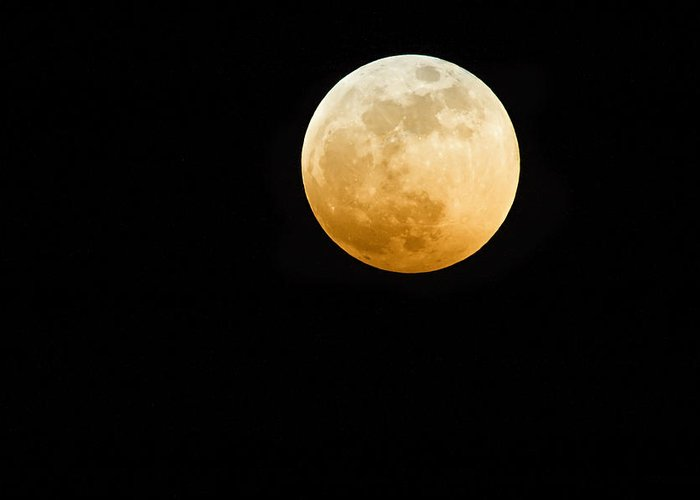 Shadow Greeting Card featuring the photograph Red Moon by Stevedangers