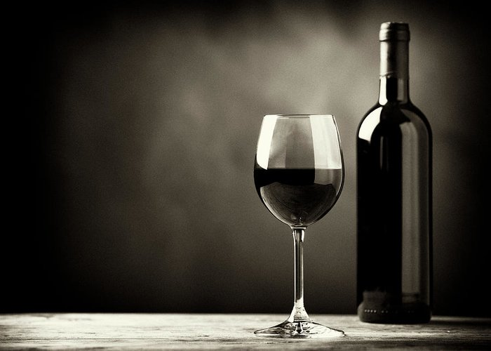 Alcohol Greeting Card featuring the photograph Red Wine by Kaisersosa67