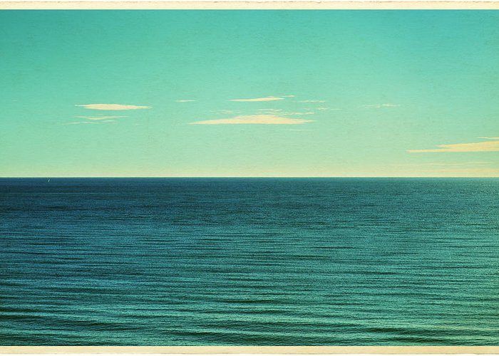 Scenics Greeting Card featuring the photograph Retro Seascape Postcard by Farukulay