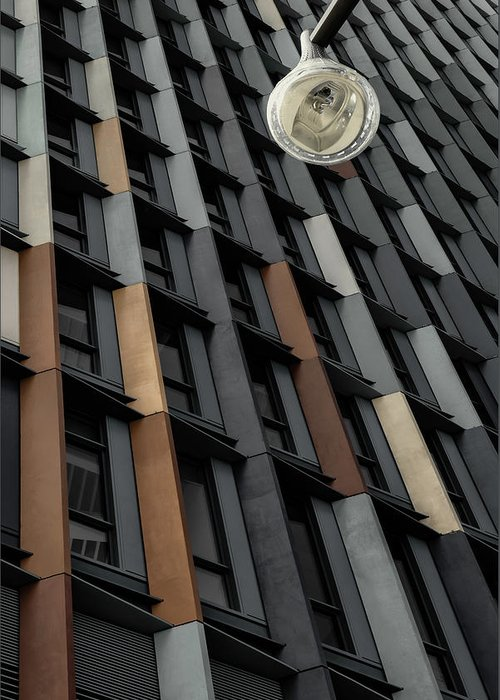 Abstract Greeting Card featuring the photograph Ribbed Wall by Gilbert Claes