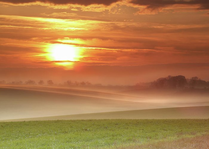 Tranquility Greeting Card featuring the photograph Ripples In Mist by Andy Freer