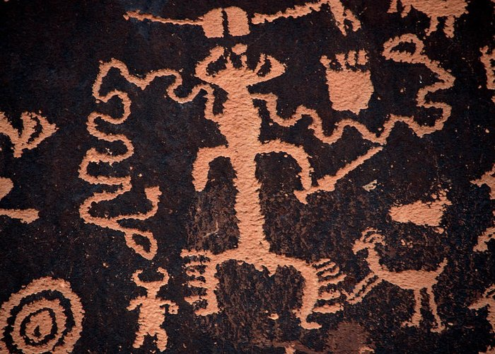 Outdoors Greeting Card featuring the photograph Rock Art by Mark Newman