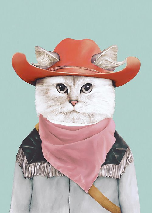 Animals In Clothes Greeting Cards