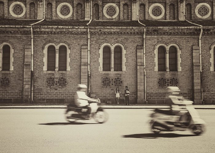 Ho Chi Minh City Greeting Card featuring the photograph Saigon Old Corner by Jethuynh
