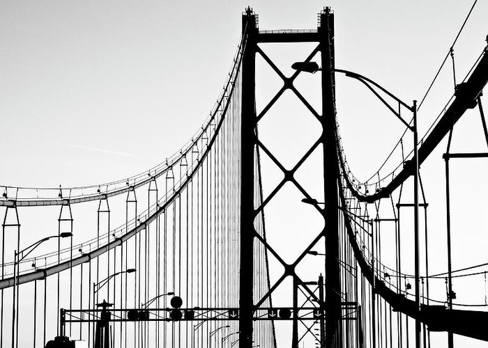 Pole Greeting Card featuring the photograph San Francisco by Znz