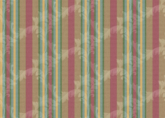 Scroll Stripe Cinnamon Greeting Card featuring the digital art Scroll Stripe Cinnamon by Bill Jackson