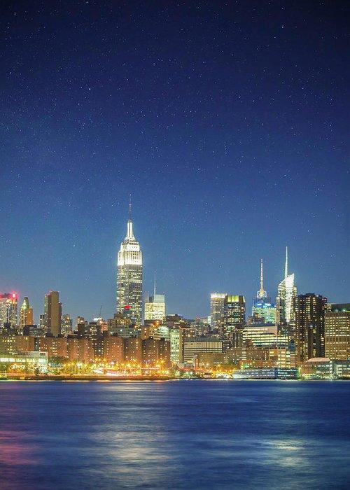 Scenics Greeting Card featuring the photograph Shiny New York by Xavierarnau